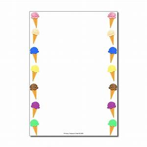 Ice Cream Page Border/Writing Frame (no lines) - Primary ...