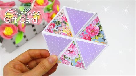 diy hexaflexagon endless card easy tutorial youtube