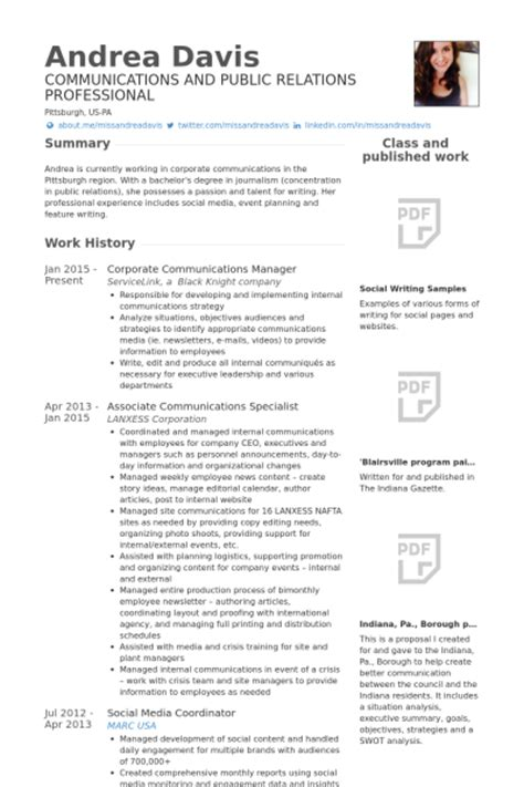 communications specialist resume sles visualcv resume