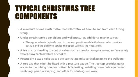 christmas tree gas well ppt wellheads and tree components functions and more