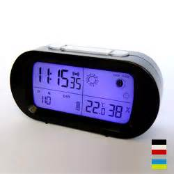 LED snooze alarm clock with backlight calendar weather station modern digital clock bedroom decor desktop clock LCD table clock
