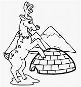 Coloring Pages Winter Igloo Reindeer Clip Printable Near Buildings Architecture Popular Drawing Filminspector Drawings Simple Again sketch template