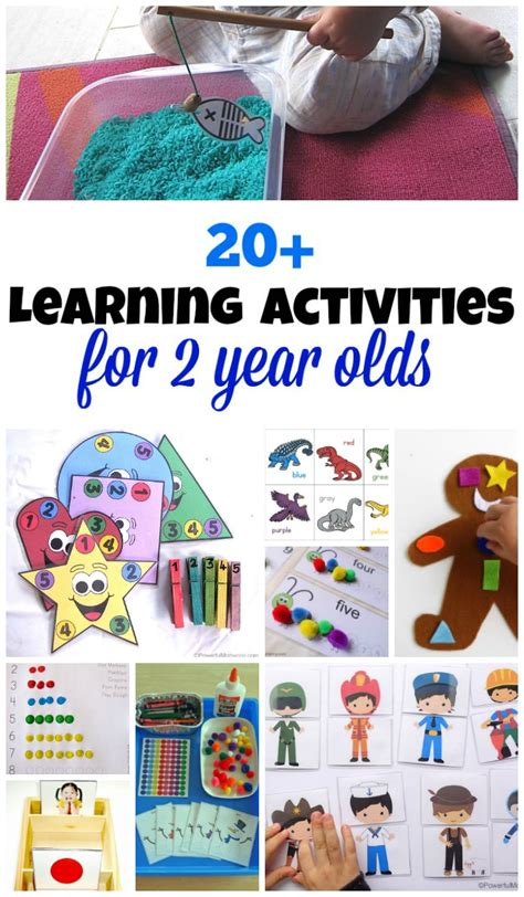 20 printable learning activities for 2 year olds
