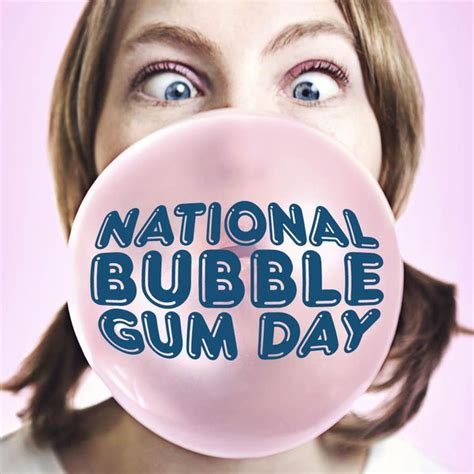 bubble gum day  printable  monthly calendar