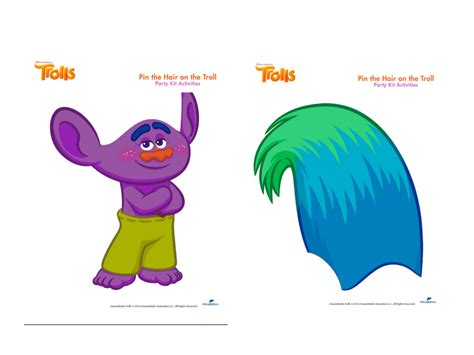 Trolls Hair Template by Trolls Printable Party Games Lilly S 6th Birthday