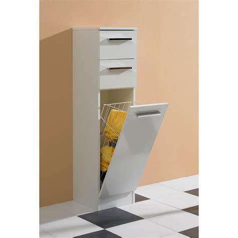 meuble haut cuisine demi colonne 1 panier à linge 2 tiroirs l 30 cm stanley