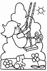 Coloring Pages Swings Swing Getcoloringpages Playground Tire sketch template