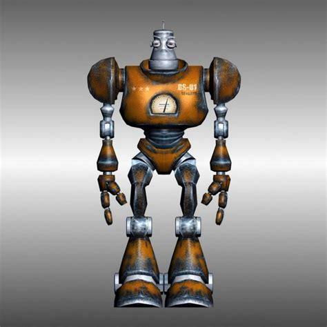 Rigged ancient robot 3d model 3D Studio,3ds max files free
