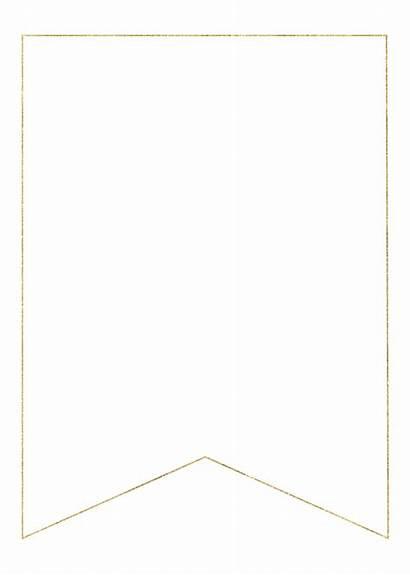 Banner Blank Gold Printable Letters Letter Alphabet