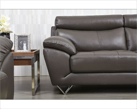 modern grey leather sofa modern leather sofa in grey color esf8049s
