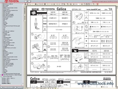service manuals schematics 2005 toyota celica navigation system toyota celica 1999 2005 service manual repair manual order download