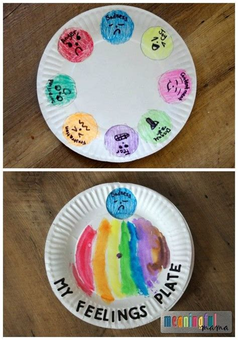 paper plate feeling spinner feelings activities and craft 783 | 839cb9ff10f1c4347e4ccf1caca647f6