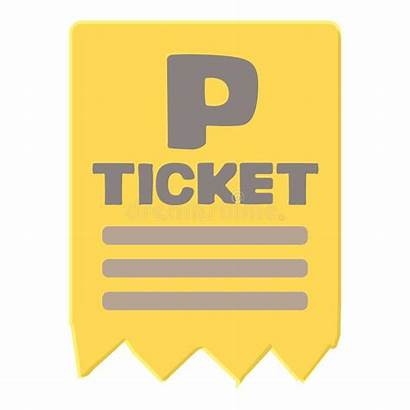Ticket Parking Cartoon Icon Illustration Clipart Web