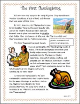 free thanksgiving primary passage by flip charts