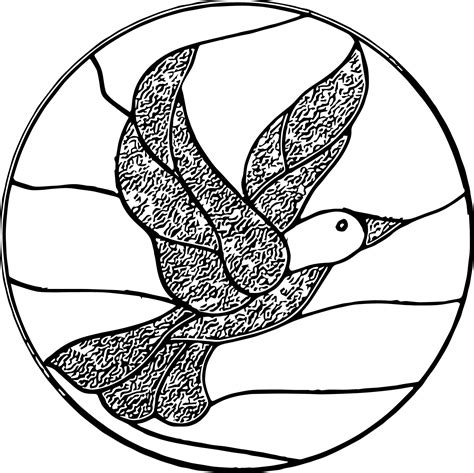 Stained Glass Bird Coloring Page Wecoloringpagecom
