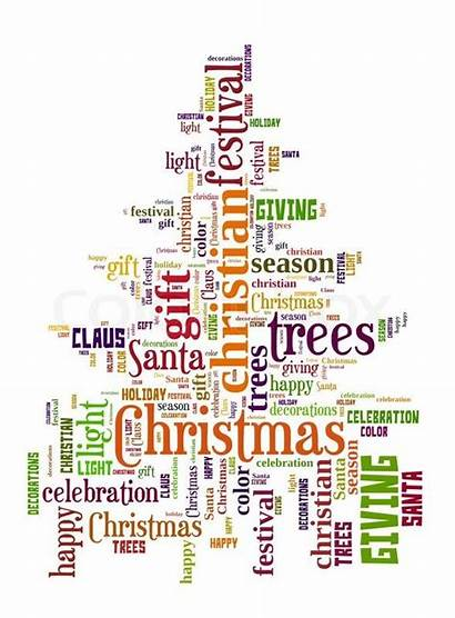 Word Christmas Clouds Words Cloud English Gift