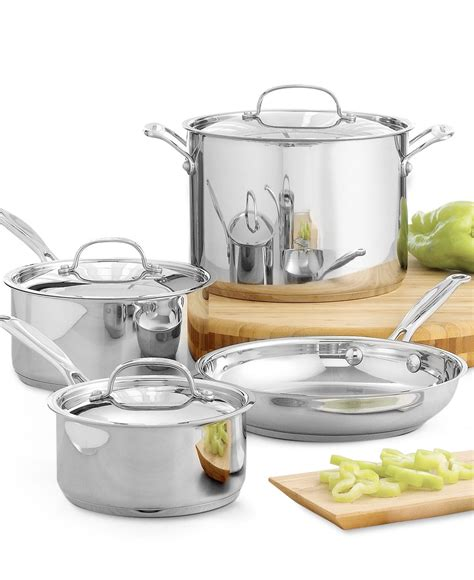 stainless steel cookware classic chef piece cuisinart pans essentials induction www1 macys sold cooking pots pan chefs