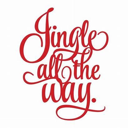 Vinyl Jingle Way Christmas Decal Sticker Holiday
