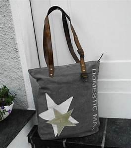 Retro Rucksack Selber Nähen : vintage shopper canvas tasche segeltuch leder von tagwerk auf taschen canvas ~ Orissabook.com Haus und Dekorationen