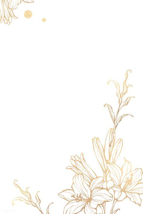 metallic floral frame png royalty  transparent png