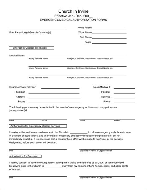 Generic Consent Form Template by Form Templates Templates Free Printable