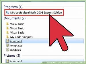 How To Basic : how to make a to do list program in visual basic 10 steps ~ Buech-reservation.com Haus und Dekorationen