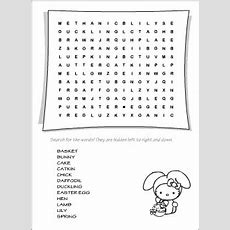 Easter Vocabulary For Kids Learning English  Printable Resources