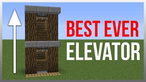 How To Make A Boat Elevator In Minecraft Pe by Minecraft 1 10 Redstone Tutorial Best Elevator
