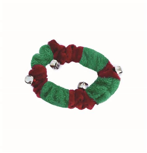 doggy things fluffy christmas collar with bells by animal