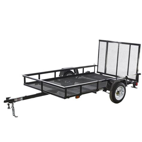 shop carry on trailer 5 ft x 8 ft wire mesh utility