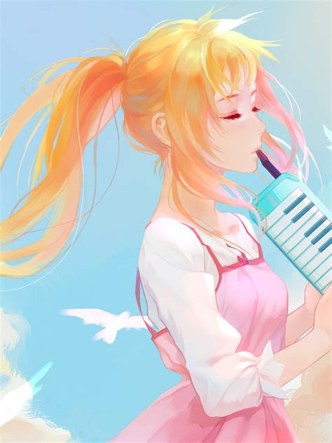 wallpaper  lie  april kaori miyazono hd anime