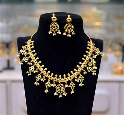 Necklace Plated Latest Guttapusalu Jewellery Jewels