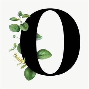 Botanical Font Letter O