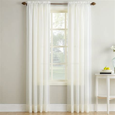 erica crushed voile curtains erica crushed sheer voile curtain panel in ivory