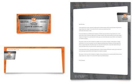 manufacturing engineering business card letterhead