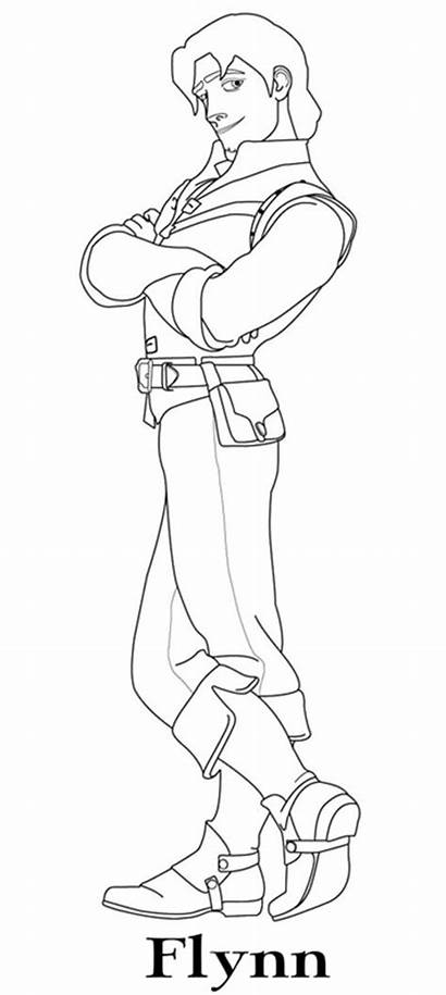 Coloring Pages Tangled Disney Flynn Rider Rapunzel