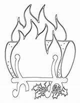 Fireplace Coloring Pages sketch template