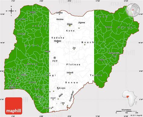 flag simple map  nigeria