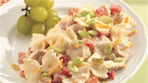 spicy chicken  bow tie pasta salad recipe