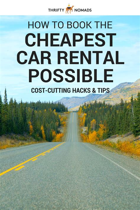 Car Rental Ta Cruise by How To Book The Cheapest Car Rental Possible Cars Book