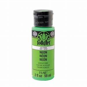 FolkArt Acrylic Paints Neon Green 2 Ounces