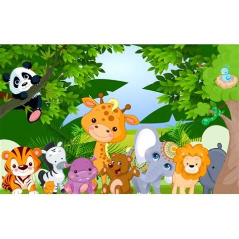 décoration chambre bébé jungle décoration murale papier peint personnalisé tapisserie