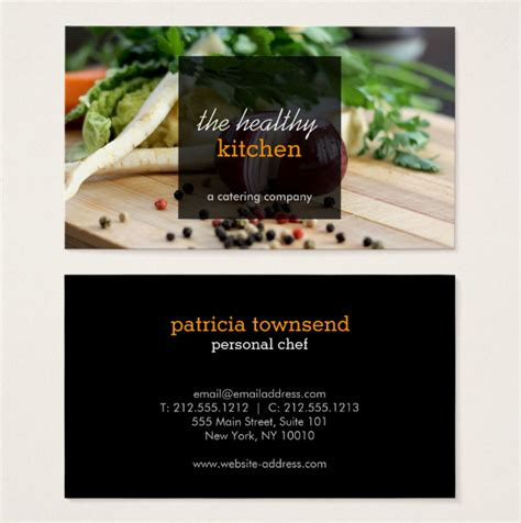 catering business card templates ai word psd