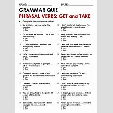 Phrasal Verbs With 'get'  All Things Grammar