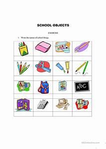 School, Things, Worksheet