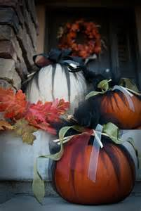 Tulle Wrapped Pumpkins