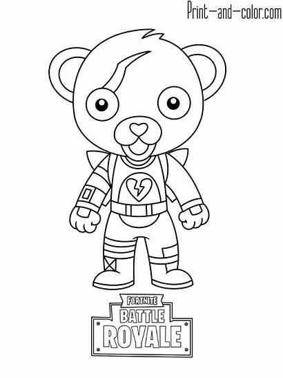 Fortnite Coloring Pages Mini Printable Cuddle Leader
