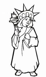 Liberty Statue Coloring Pages Printable Drawing Outline Lady July 4th Torch Independence York Clipartmag Fourth Getcoloringpages Flag sketch template