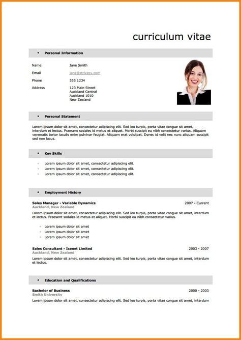 Formulaire De Cv En Francais by Exemple Cv En Francais Lusocarrelage