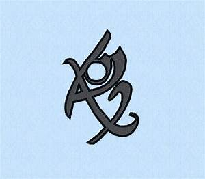 Mortal Instruments - Fearless rune - machine embroidery ...